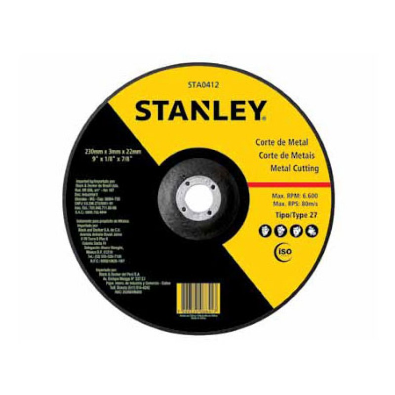 Stanley disco de corte inox - STA8061 41/2X1.0X7/8