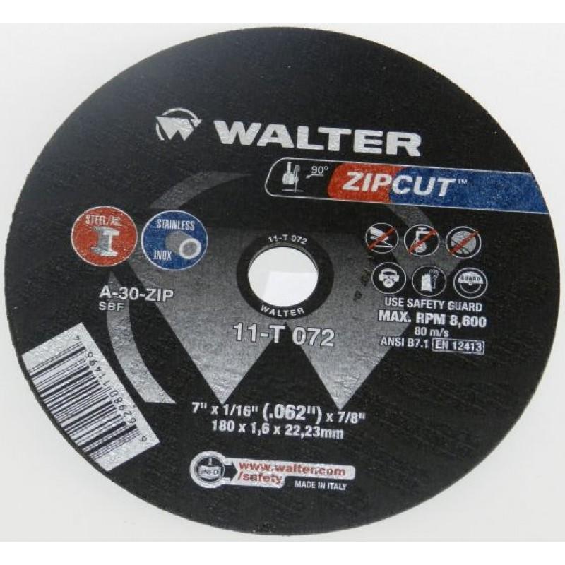 Walter disco de corte Zipcut - 7X1/16X7/8 11- T 072