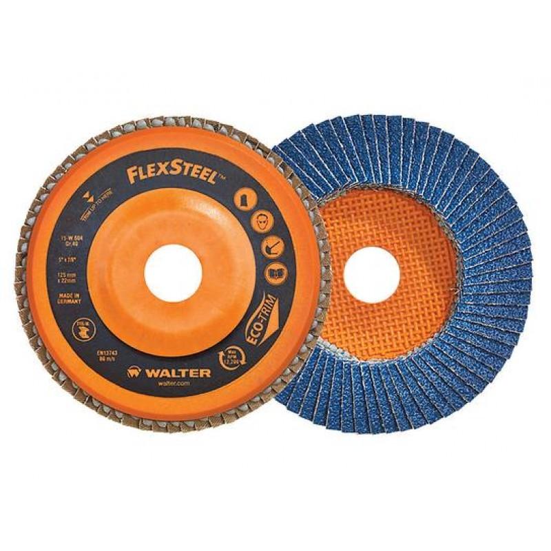 Walter disco flap flexsteel - 4.1/2.X 7/8 gr. 60