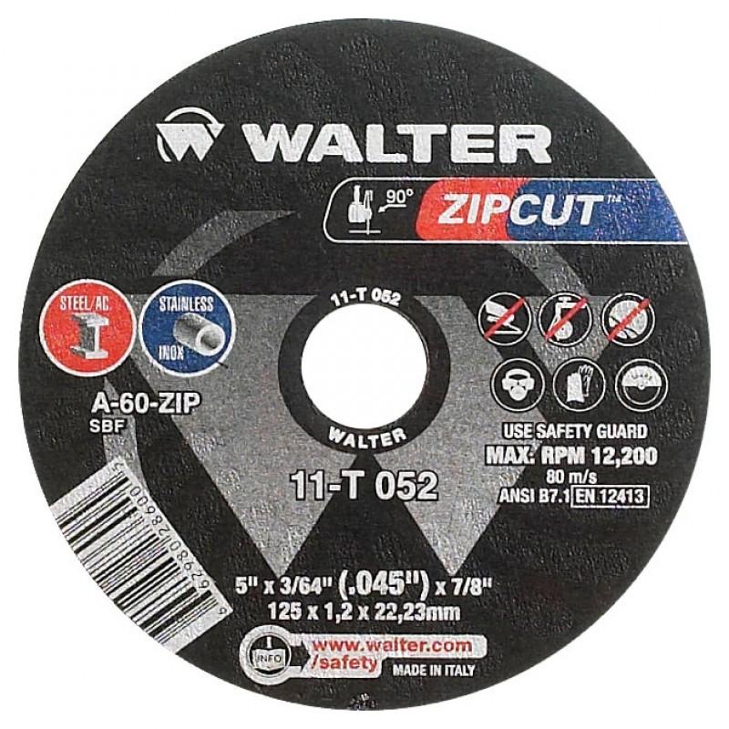 Walter disco de corte Zipcut - 4 1/2X3/64X7/8 11 - T 042